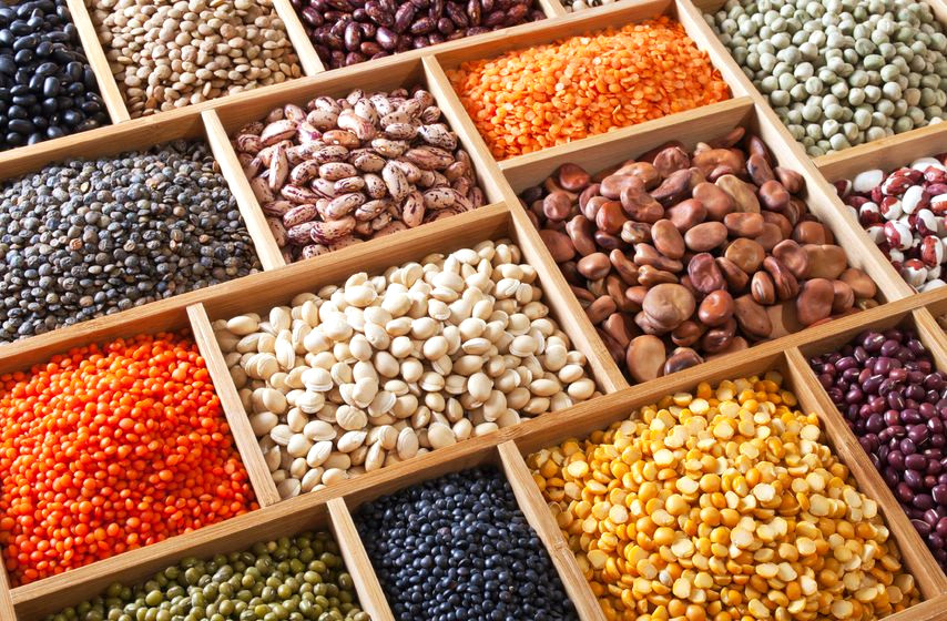 Bunte Hülsenfrüchte-Vielfalt