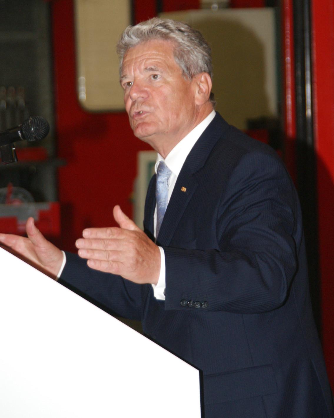 Ehemaliger Bundespräsident und Pastor - Joachim Gauck