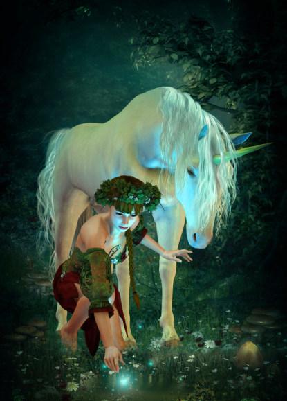 Einhorn und Elfe Zaubernacht