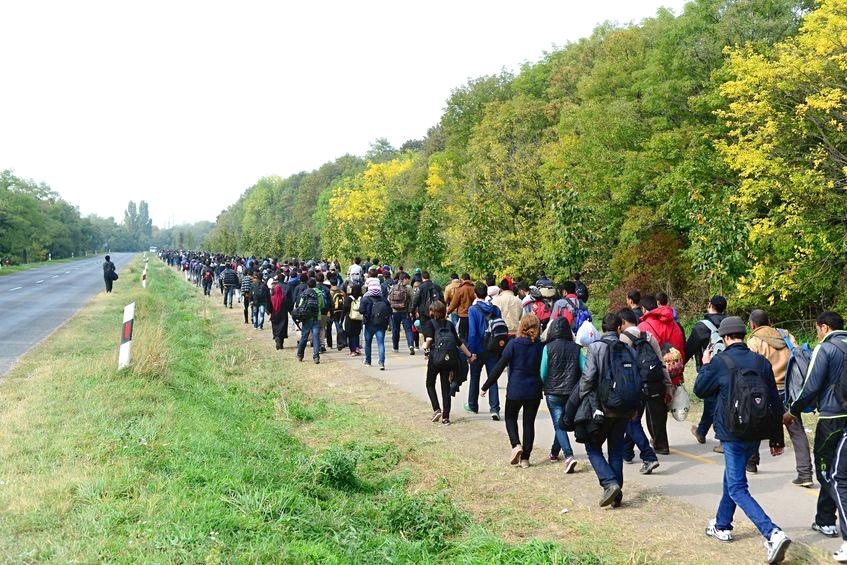 Flüchtlinge - Ungarn Okt. 2015