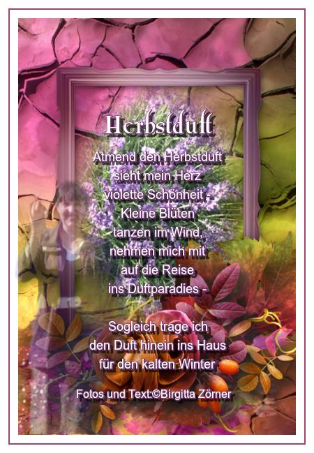 Gedicht - Herbstduft