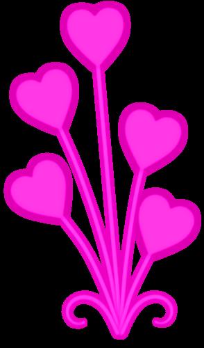 Herz-Blumen-Rosa