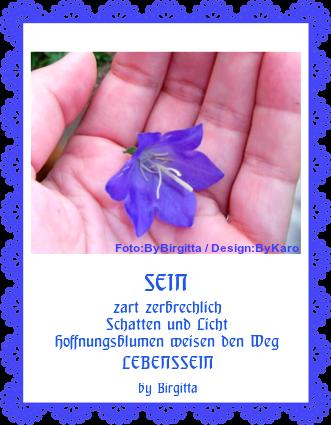 Hoffnungs-Blumen zart und zerbrechlich
