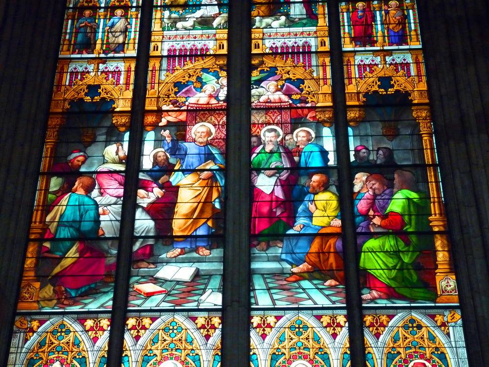 Kirche Fensterbild Predigt