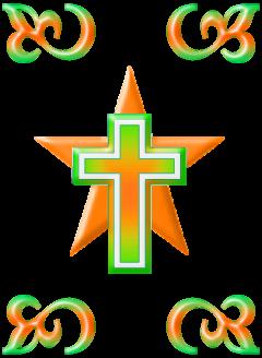 Kreuz auf Stern