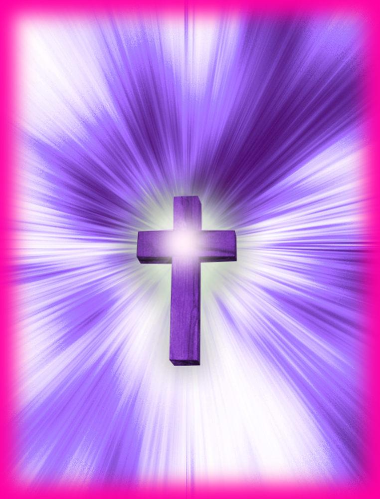 Kreuz Lila Leuchten