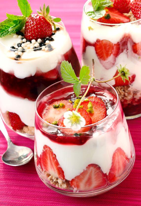 Leckeres Erdbeer-Joghurt-Müsli