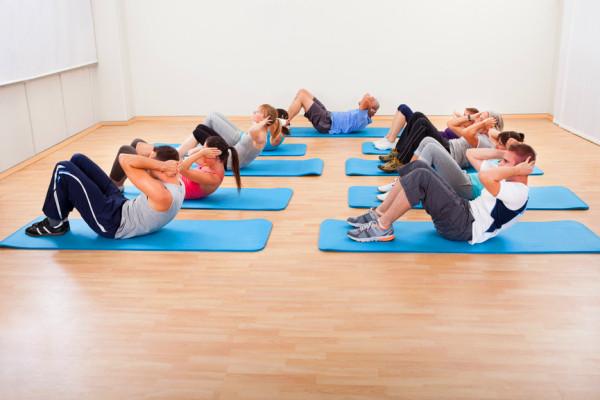 Muskel Training Gruppe