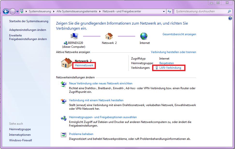 Windows 7 Datei Freigabe im Netzwerk