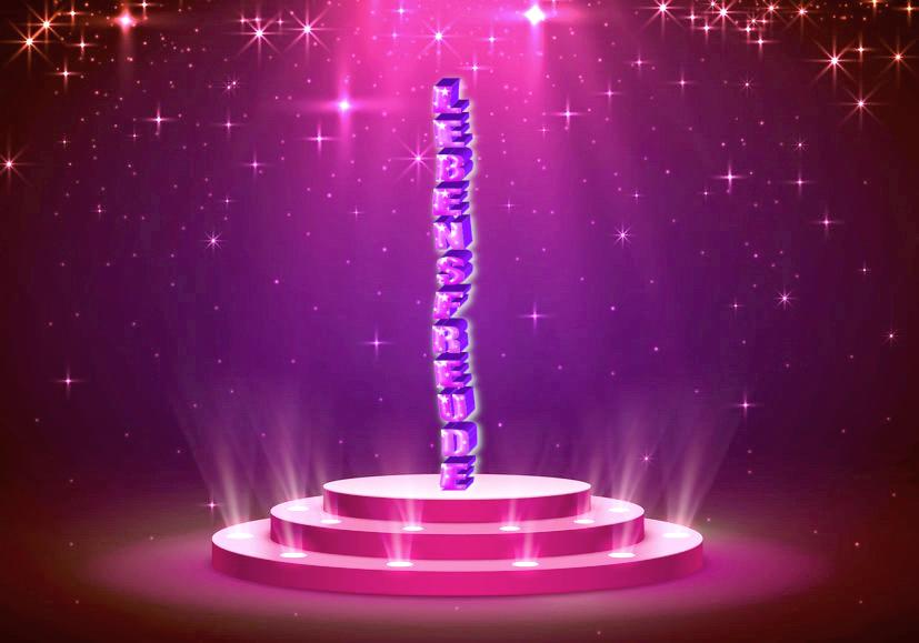 Die Lebensfreude auf das Podest stellen - Pink-Sternenglanz