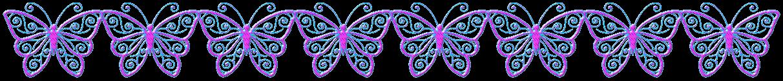"""Trennlinie: """"Schmetterlinge"""" - Pink-Blau"""