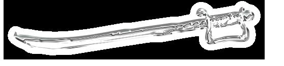 """Trennlinie: """"Schwert"""" - Silber-Chrom / rechts"""