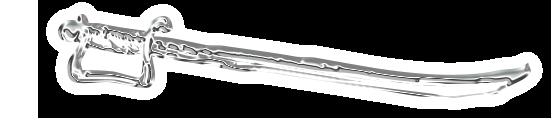 """Trennlinie: """"Schwert"""" - Silber-Chrom / links"""