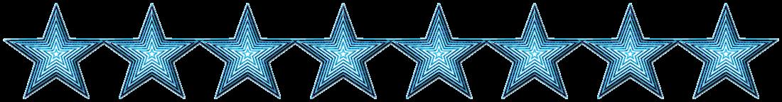 Trennlinie - Sternen/Muster - Türkis