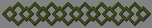 Trennlinie Karos grün