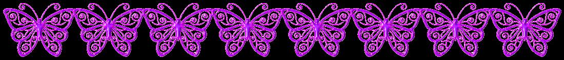 """Trennlinie: """"Schmetterlinge"""" - Pink-Lila"""
