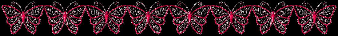 """Trennlinie: """"Schmetterlinge"""" - Rot-Schwarz"""