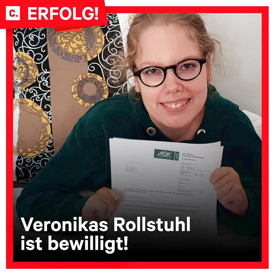 """Petition: Veronika Maier - """"Bewilligung eines neuen Rollstuhls"""""""