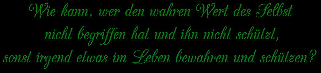 """Schriftzug: """"Wert des Selbst"""" - Grün"""