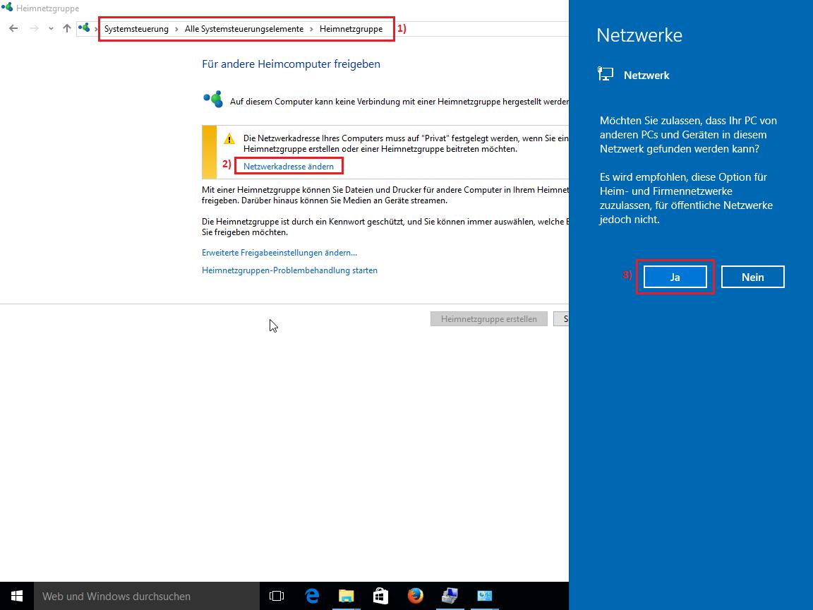 Windows 10 - Privates Netzwerk aktivieren