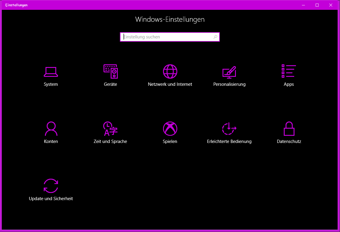 Windows 10 Einstellungen im Creators Update