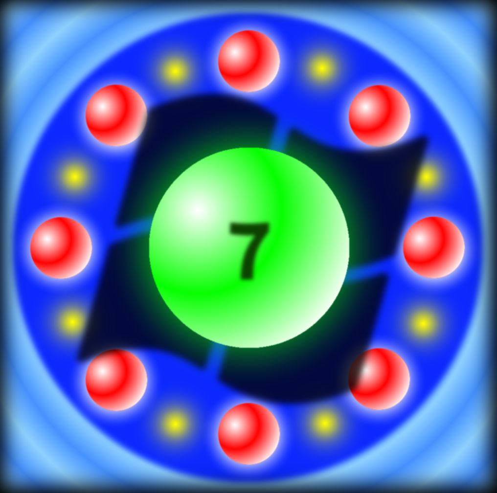 leuchtende kugeln windows 7 logo