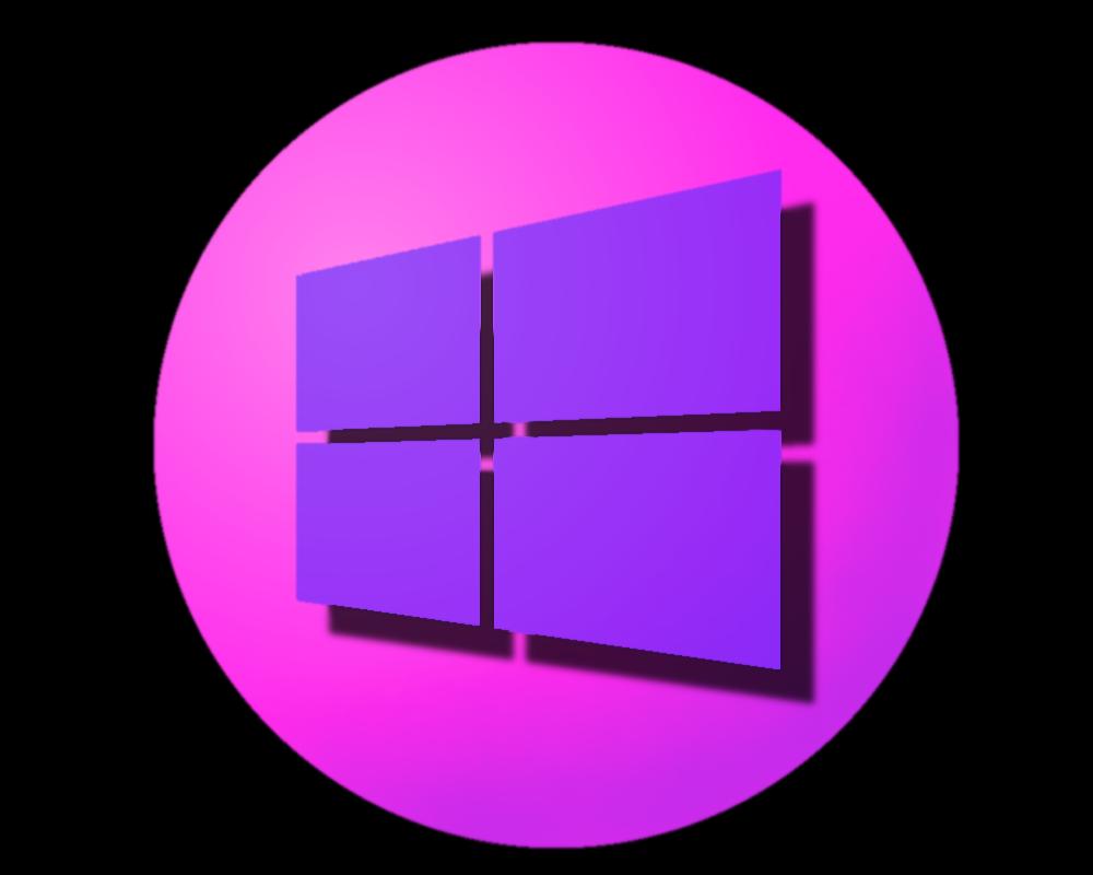windows 8 logo pink lila