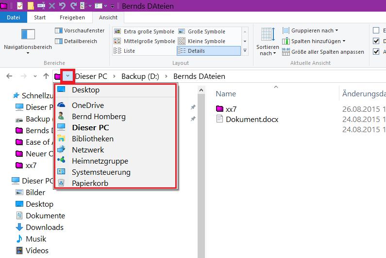 Windows Explorer Papierkorb und Systemsteuerung