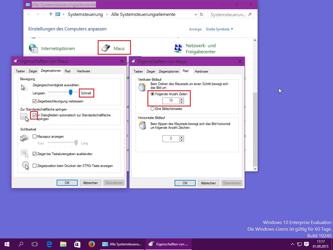 Windows Maus Einstellungen Optimieren