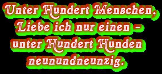 """Spruch: """"Unter Hundert Menschen..."""""""