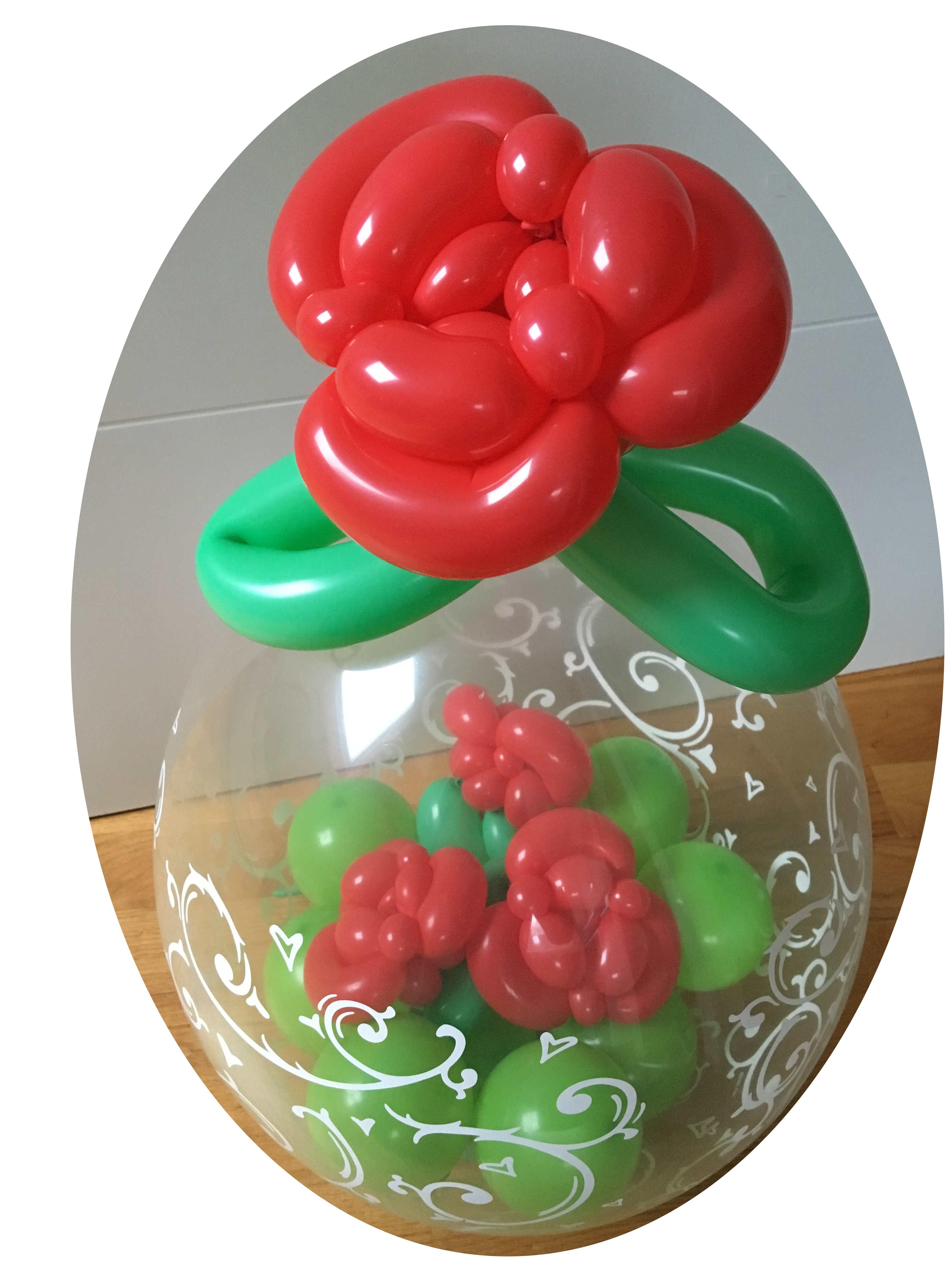 Ballongeschenk Valentinstag