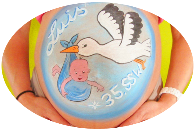 Babybauchbemalung