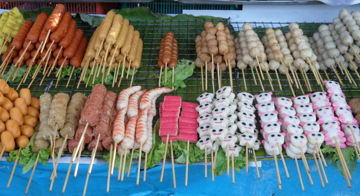 Bild Essen Wurst und Fischspiese