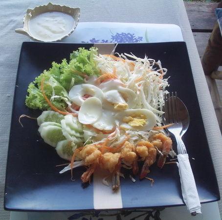 Salat ganz frisch Essen