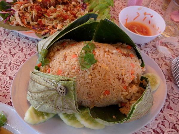 Bild Essen gebratener Curry-Reis