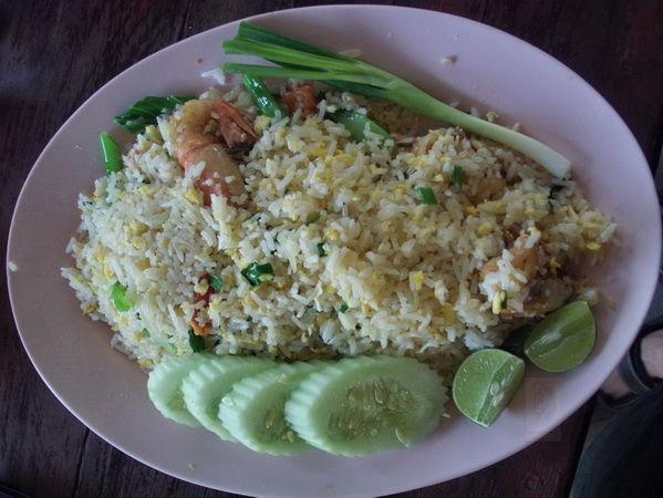 Bild Essen gebratener Reis Khau Pat
