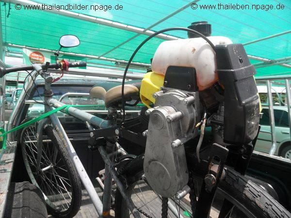 Selbstgeabutes Fahrrad mit Motor