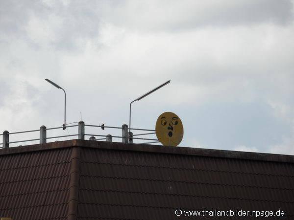 Smilie auf dem Dach
