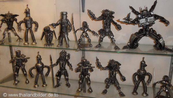Kunst kleine Eisenfiguren