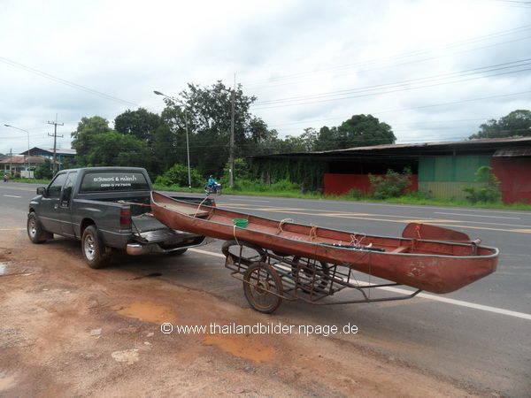 Boot an Pickup gehängt ohne sicherung