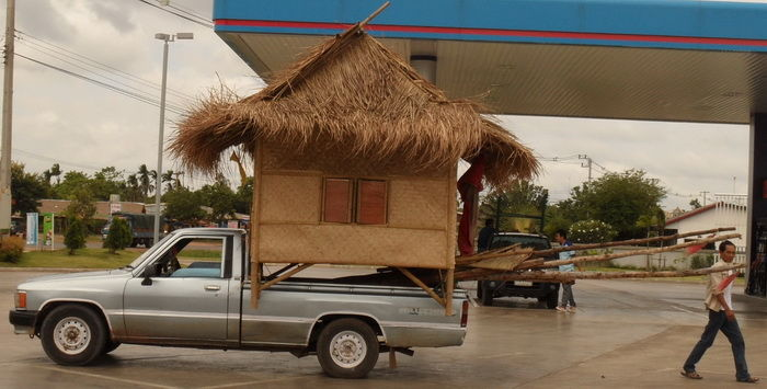 Haustransport auf Pickup