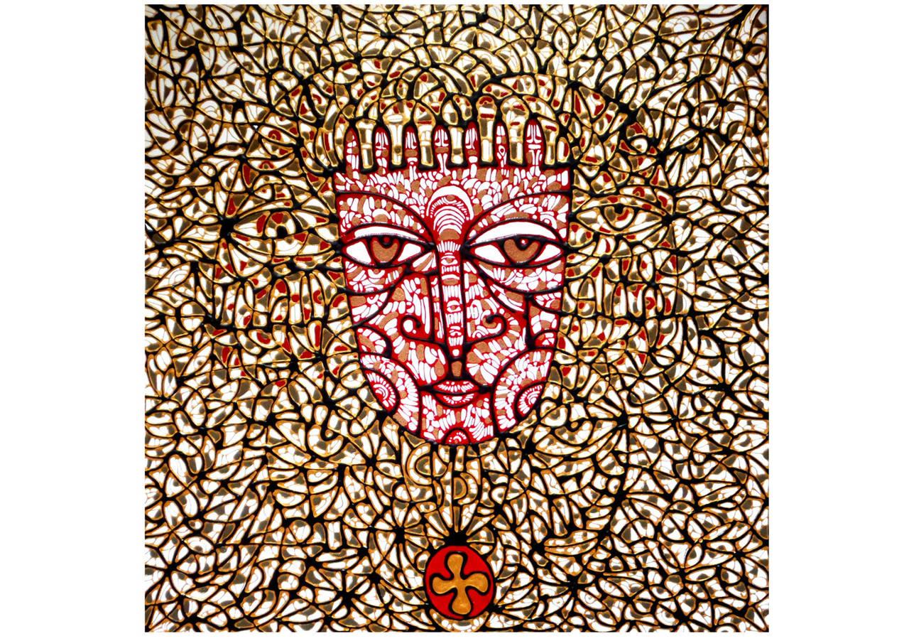 Ira Repey, Porträt, 2013, Acryl auf Leinwand, 60 x 60 cm