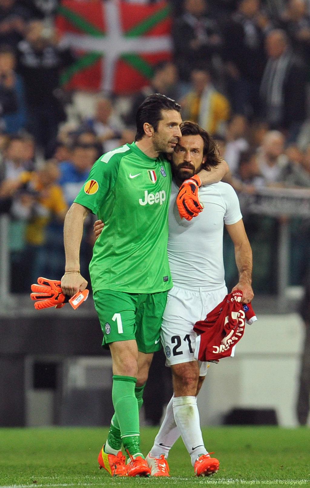 Gianluigi Buffon und Andrea Pirlo