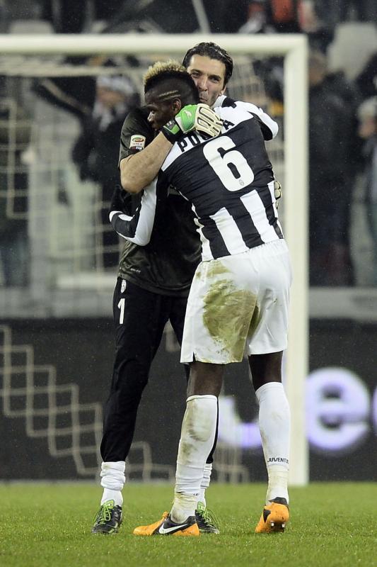 Paul Pogba und Gigi Buffon