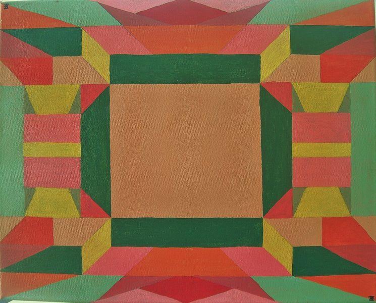 Acrylfarbe auf Leinwand, Maße 40x50cm,