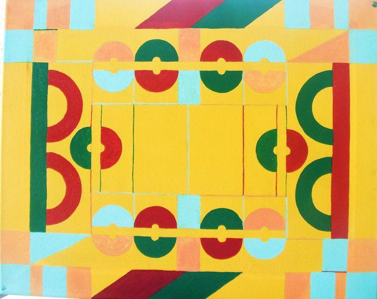 Acrylfarbe auf Leinwand, Maße 40x50 cm