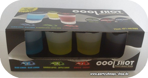 Cool Shot Vodka-Lik�r-Mix
