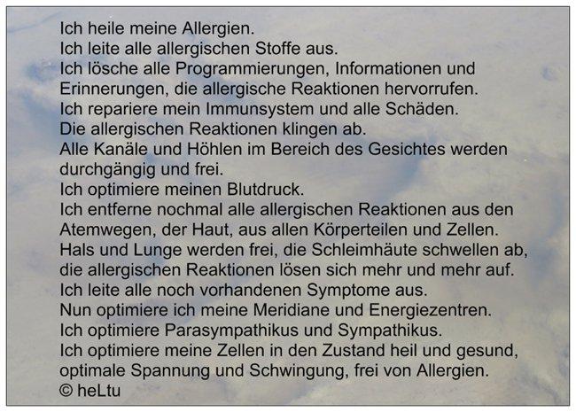 Heilkarte Text