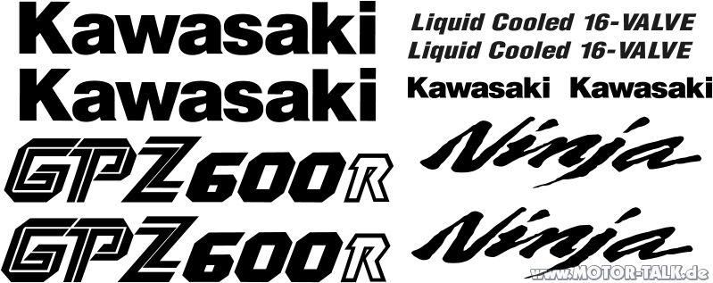 Kawasaki Gpz600r Ninja Zx600a
