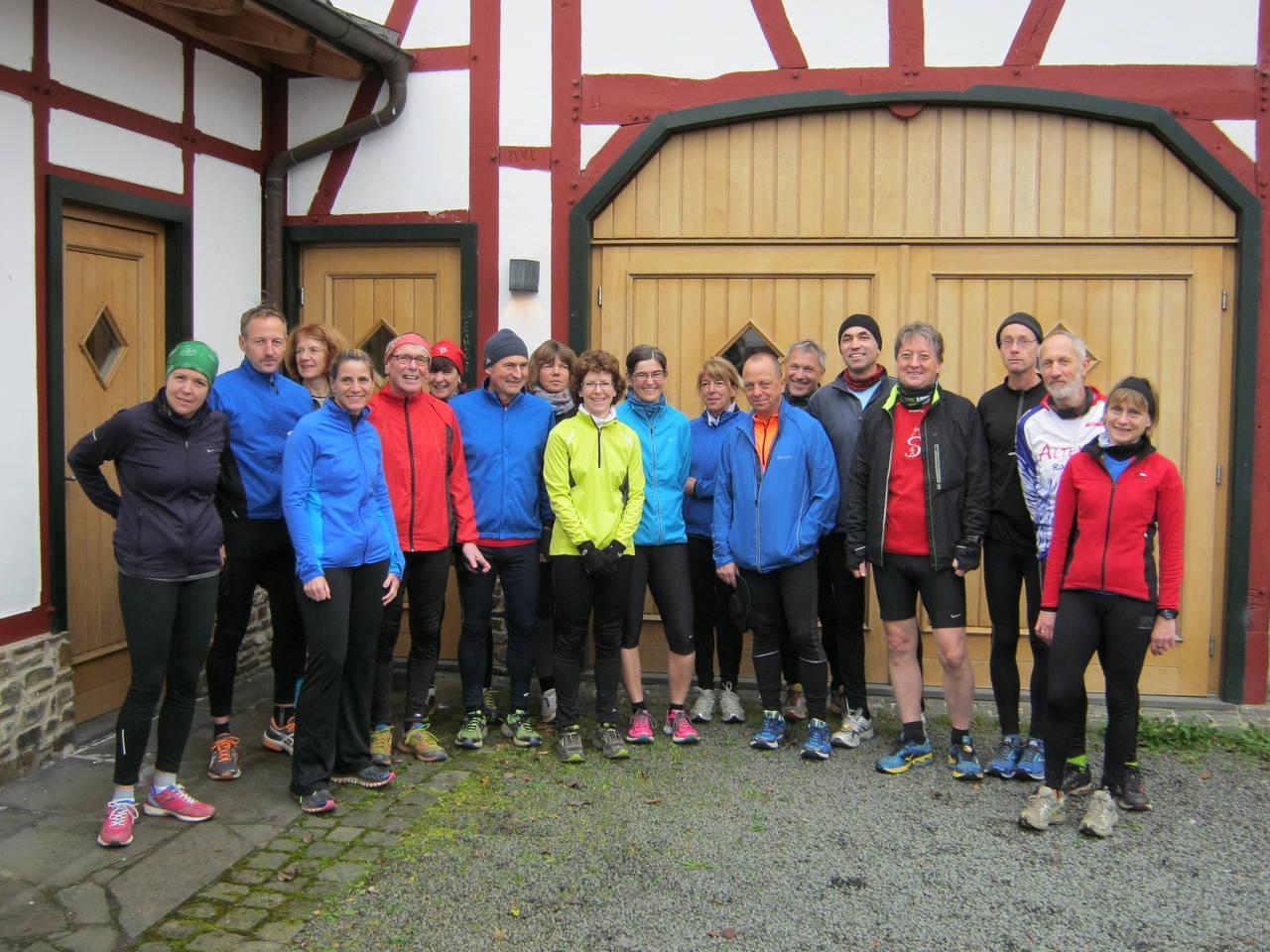 kurz vor dem Steinerberglauf 2014-11-28